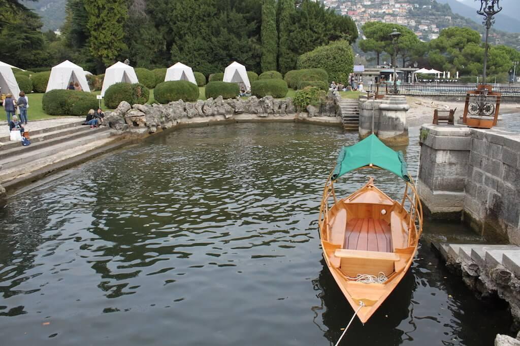 озеро комо лодка