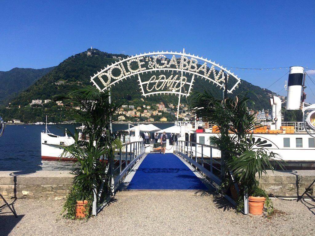 Dolce&Gabbana event Como