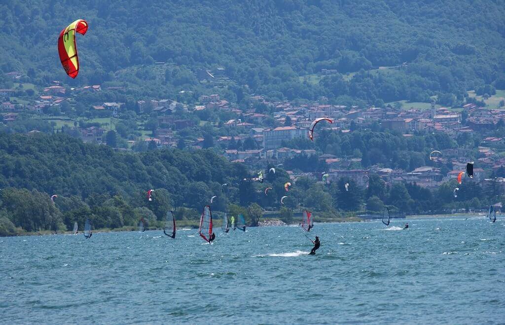 Кайт серфинг на озере Комо